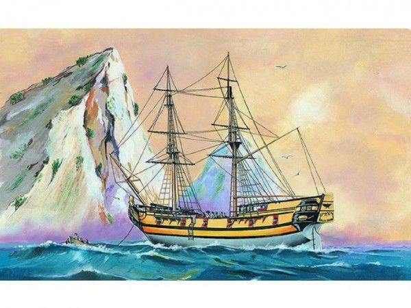 Směr slepovací model Black Falcon Pirátská loď 1:120