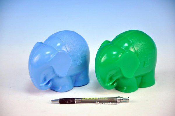 Pokladnička Slon plast 13cm asst 2 barvy 12m+