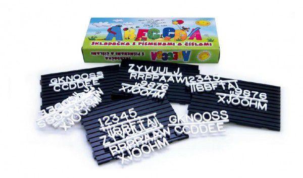 Abeceda Skládačka s písmenky a čísly plast v krabici 31x13x4cm
