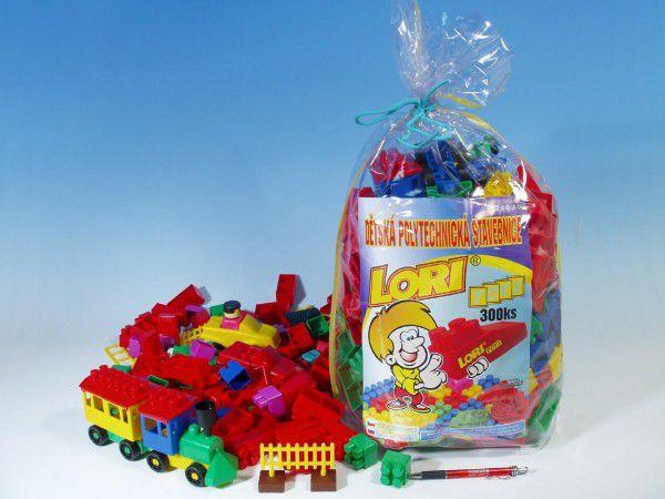 LORI 300 Stavebnice plast 300ks v pytli 30x35x20cm