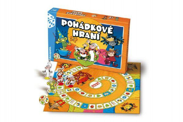 Večerníček Pohádkové hraní společenská hra v krabici 35x23x4cm