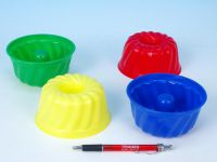 Formičky Bábovky kulatá plast 12x7cm - 4 barvy