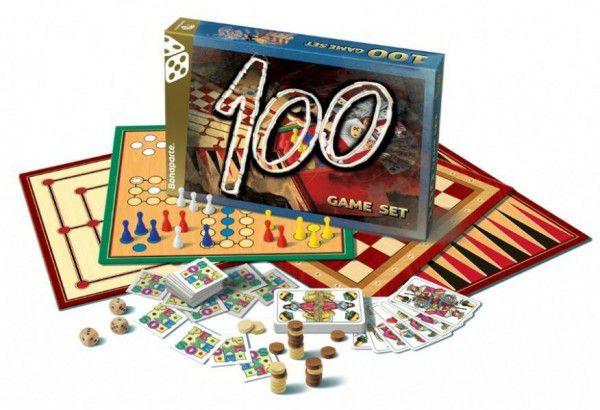 Teddies 100 Soubor her -společenská hra v krabici 35x23cm