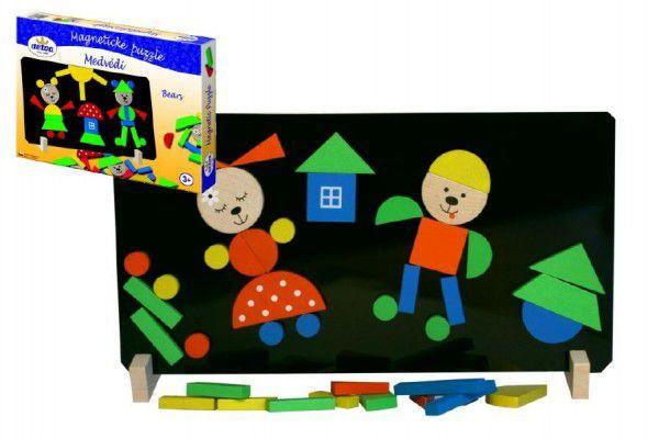 Teddies Medvědi 47764 Magnetické puzzle v krabici 33x23x3,5cm