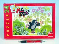 Puzzle  Krtek na bruslích 26,4x18,1cm 24 dílků v krabici 27x19x3,5cm