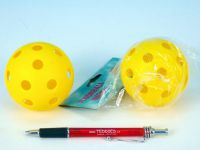 Floorball míč plast průměr 7cm asst 2 barvy v sáčku