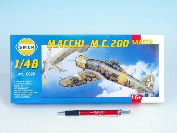 Směr plastikový model letadla ke slepení Macchi M.C. 200 Saetta slepovací stavebnice letadlo 1:48