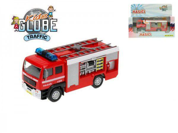 Mikro Trading Auto hasiči kov 14cm na baterie se zvukem se světlem v krabičce