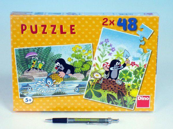 Puzzle Krtek 26,4x18,1cm 2x48 dílků v krabici 27x19x3,5cm