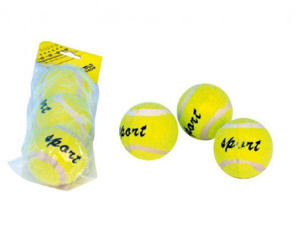 Tenisové míčky 3ks v sáčku 19x8x6cm