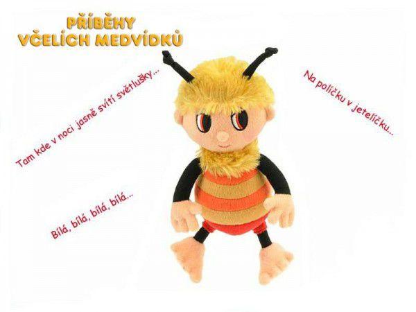 Teddies Včelí medvídek Čmelda 26 cm