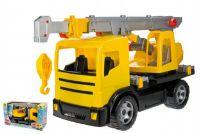 Autojeřáb plast 70cm 2-osý žlutý v krabici