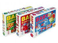 Baby puzzle asst 6 druhů 18 dílků v krabici 35,5x24x5cm