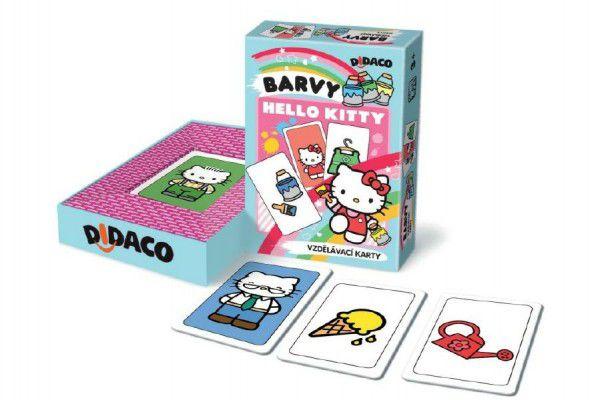 Didaco Hodiny Hello Kitty vzdělávací karty v krabičce 10x16x3cm
