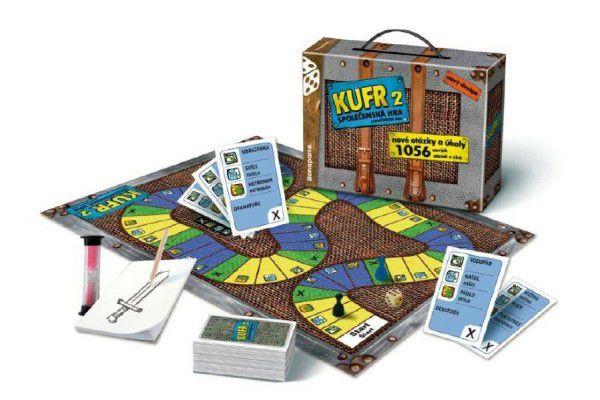 Kufr 2 společenská hra v kufru 24,5x20x7cm