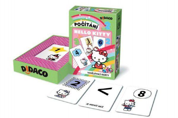 Didaco Hello Kitty Počítání vzdělávací karty v krabičce 10x15x3cm