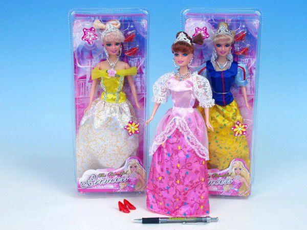 Panenka princezna kloubová 29cm 3 druhy v krabičce