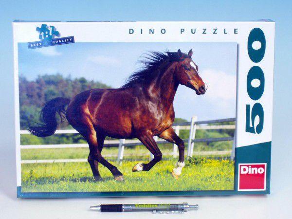 Teddies Kůň ve výběhu 47x33cm v krabici 33x23x3,5cm 500 dílků