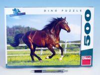 Puzzle Kůň ve výběhu 47x33cm 500 dílků v krabici 33x23x3,5cm