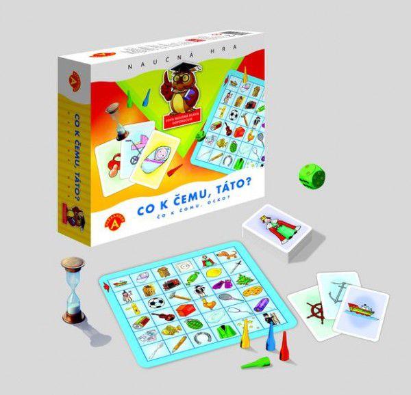 Co k čemu, táto? společenská hra v krabici 20x18cm