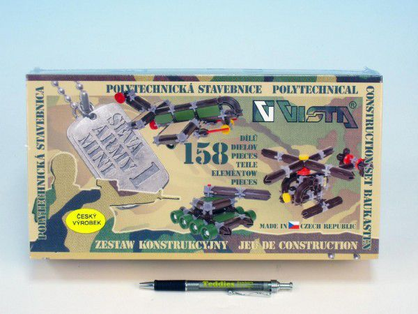 Seva Army mini 1 Stavebnice plast 1v krabici 31,5x16,5x7,5cm