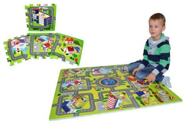 Wiky Pěnové puzzle Město 32 x 32 cm 9 ks