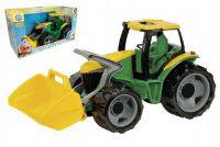 Traktor se lžící plast zeleno-žlutý 65cm v krabici od 3 let