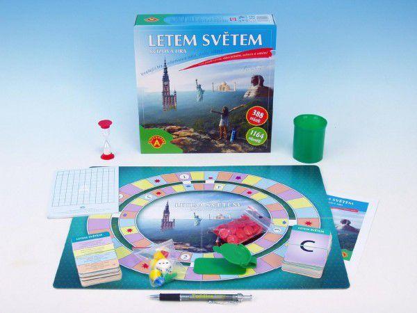 Letem světem společenská hra kvízová v krabici 24x25x6cm