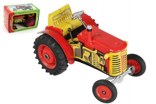 Teddies Kovap Zetor 48118 Traktor červený na klíček kov 14cm 1:25 v krabičce