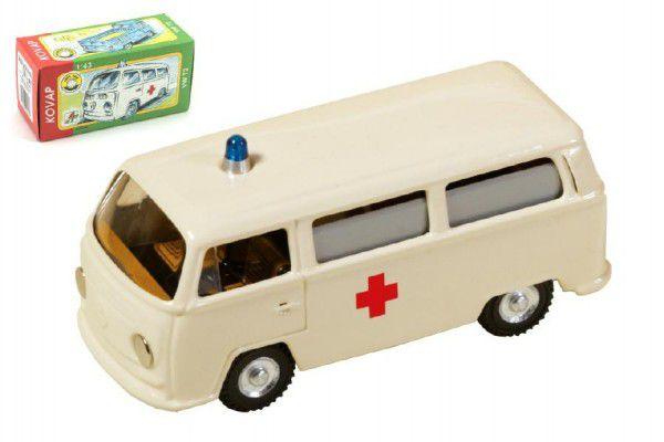 VW Ambulance Kovap Auto kov 12cm 1:v krabičce
