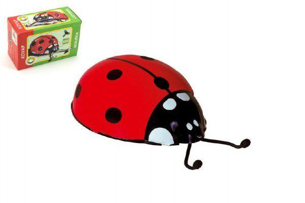 KOVAP Sluníčko plechové červené hračka beruška na klíček Kov 0550