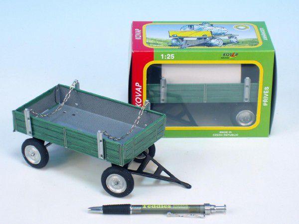 Teddies Kovap 48137 Valník zelený kov 15cm v krabičce