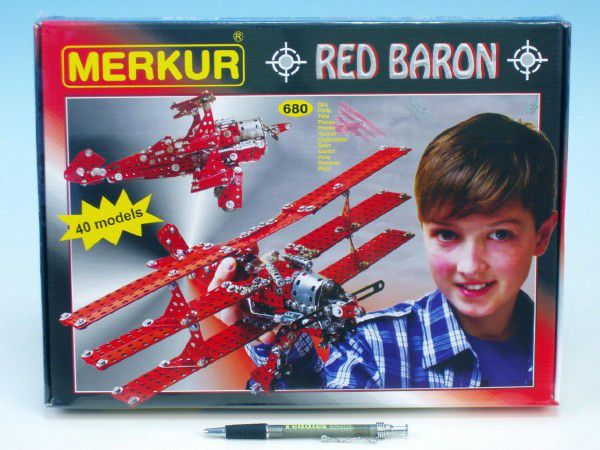 MERKUR Red Baron modelů 680ks v krabici 36x27cm