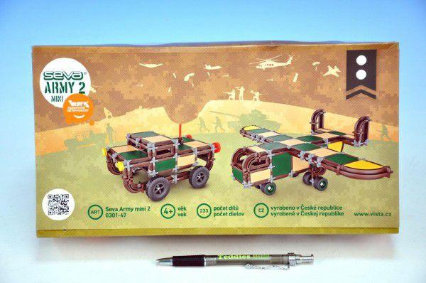Stavebnice Seva Army MINI 2 plast 233ks v krabici 31,5x16,5x7,5cm