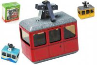 Lanovka červená na klíček kov 10x7,5cm v krabičce Kovap
