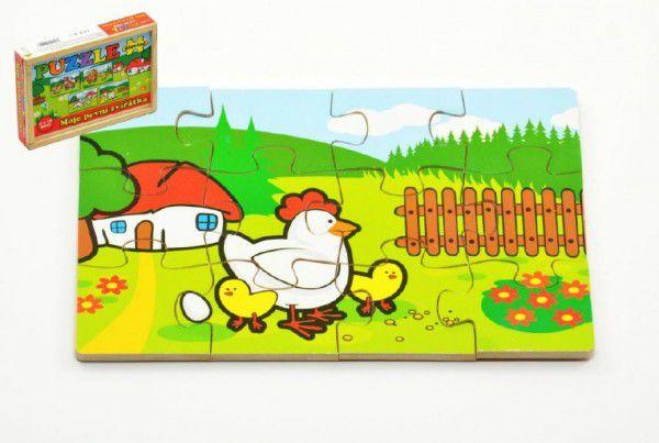 Teddies Puzzle dřevěné Moje první zvířátka
