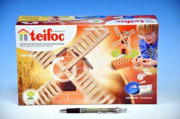 Stavebnice Teifoc Větrný mlýn v krabici 29x18x8cm