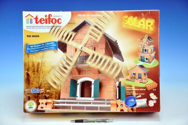 Teddies Teifoc 48256 Stavebnice Mlýn - solární pohon 380ks v krabici 44x33x11cm