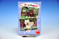 Puzzle Psí kamarádi 26,4x18,1cm 2x48 dílků v krabici 19x27x3cm