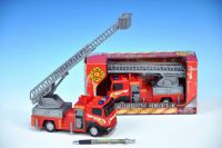 Auto hasiči kov/plast 22cm v krabici