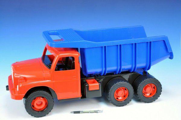 Teddies Dino Auto Tatra 148 plast 73cm červená kabina modrá korba