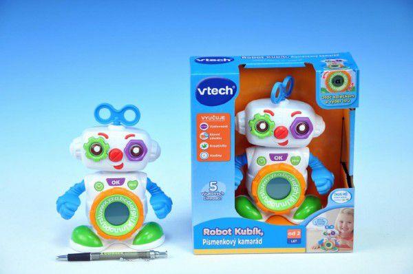 Robot Kubík Vtech pro nejmenší plast 20cm na baterie se zvukem se světlem v krabici 24m+