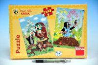 Puzzle Krtek na Mýtině 2x48 dílků v krabici 27x19x3cm