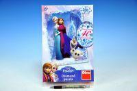 Puzzle Ledové království/Frozen 33x47cm 200 dílků diamanty+lepidlo v krabici 18x26x6cm
