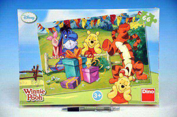 Teddies Medvídek Pú Oslava 48431 Puzzle 32,3x22cm 66 dílků v krabici 33x23x3,5cm