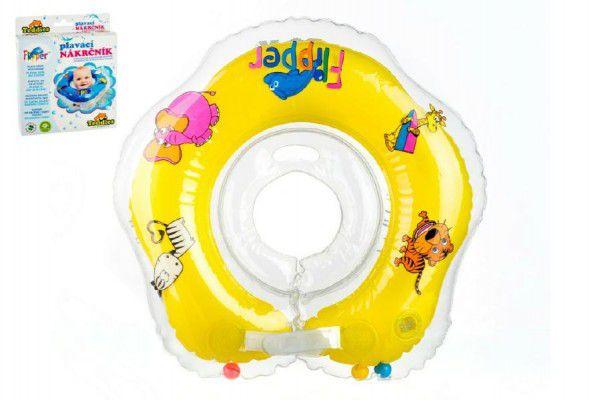 Flipper/Kruh Plavací nákrčník žlutý v krabici 17x20cm 0+