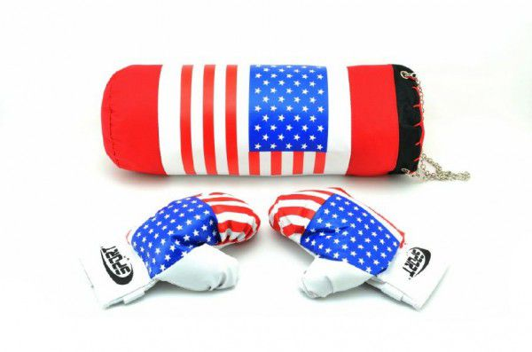 Teddies 48478 Boxovací pytel + rukavice v síťce 45x15cm