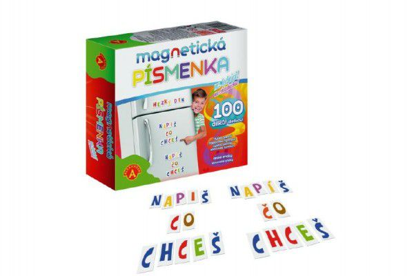 Teddies Magnetická písmenka na lednici 100 dílků v krabici