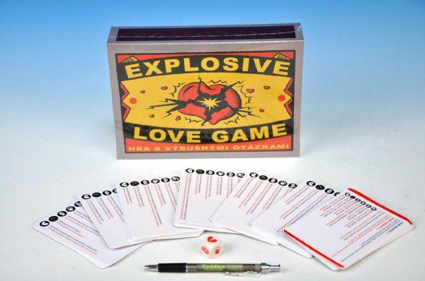 Hra Explosive Love game společenská hra v krabici 23x16x5cm