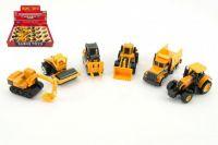 Auto stavební mini kov/plast 8cm volný chod - 6 druhů